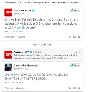 Réponse des twittos a SFR et montee du bad buzz