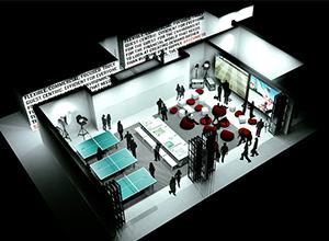 L'espace ping pong côtoie celui de la galerie photos dans le concept du Radisson Red