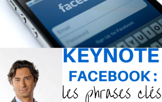 keynote facebook Laurent Solly salon IAB France