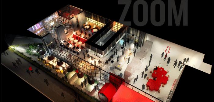 Plan imagé du concept Radisson Red, où les espaces de loisirs côtoient ceux pour travailler