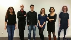 De gauche à droite: Joanna Zeitoun, Xavier Comte, Johnathan Chan, Célia Face, Tamara Mouzannar, Barbara Pointeau
