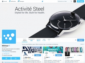 compte twitter withings