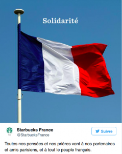 réactions marques crises attentats Starbuck