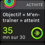 activité physique apple watch