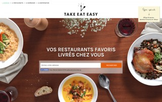 Page d'accueil Take Eat Easy