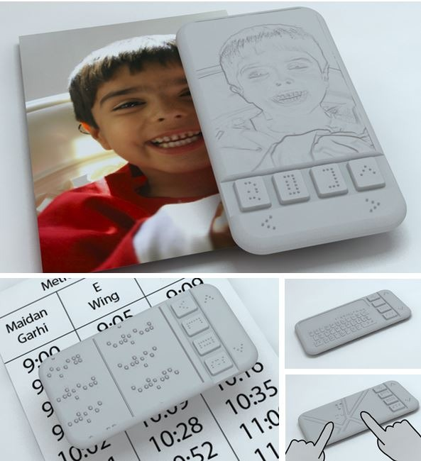 technologie haptique braille phone