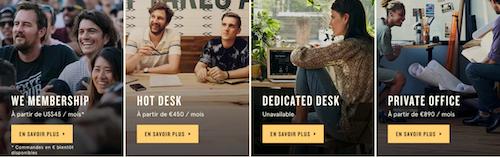 wework lafayette, coworking, startup, tarif