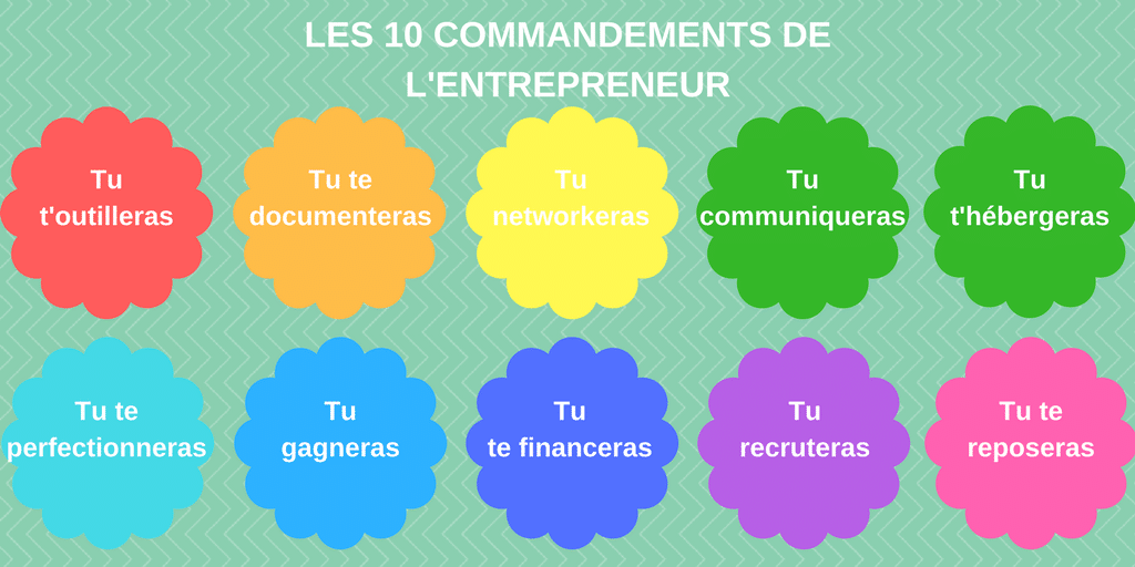 entrepreneuriat - commandements