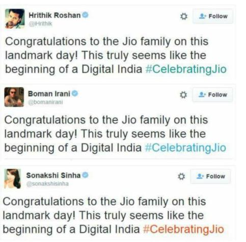 tweet jio marketing d'influence fail