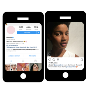 Glossier Instagram Marketing d'influence