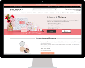 Exemple site Birchbox approche personnalisee e-commerce