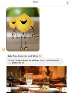Citron chatbot, les meilleurs lieux de sortie sur Paris