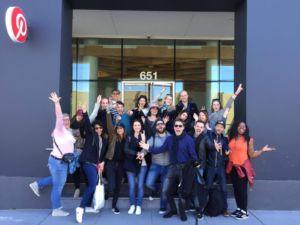 Voyage MBAMCI devant Pinterest - SanFrancisco
