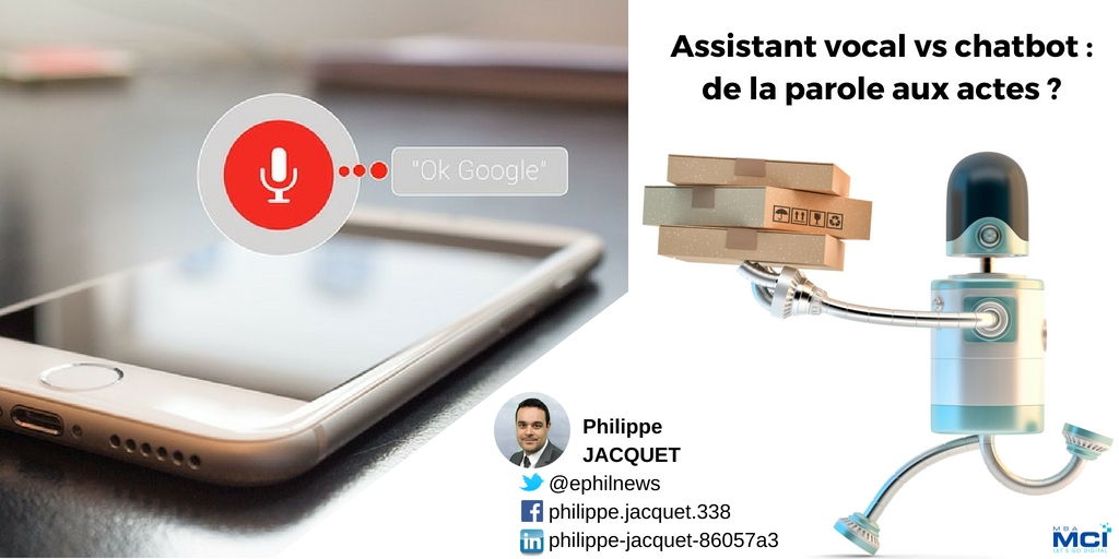 Assistant vocal vs chatbot: de la parole aux actes ?