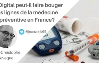 article sur le digital et la médecine préventive en France