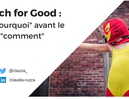 Tech for Good : le « pourquoi ?  » avant le « comment ? «