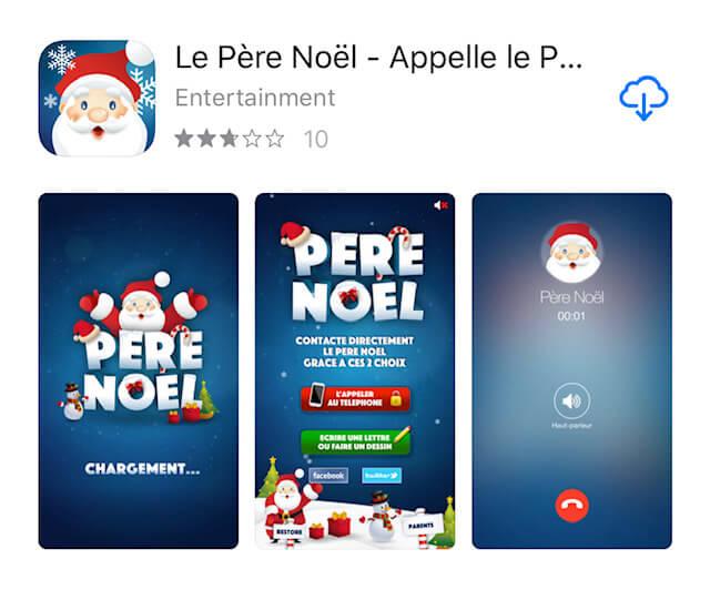 Application Appelle le PèreNoël dans l'AppStore