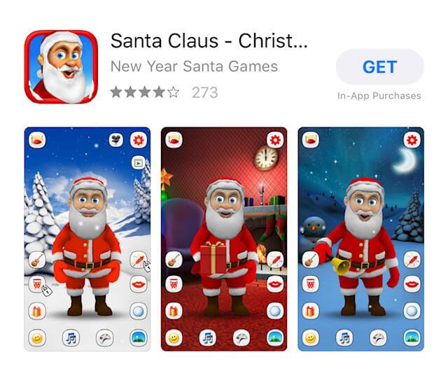 Application du Père Noel dans l'AppStore