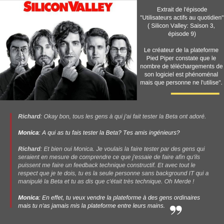 Extrait de la série Silicon Valley