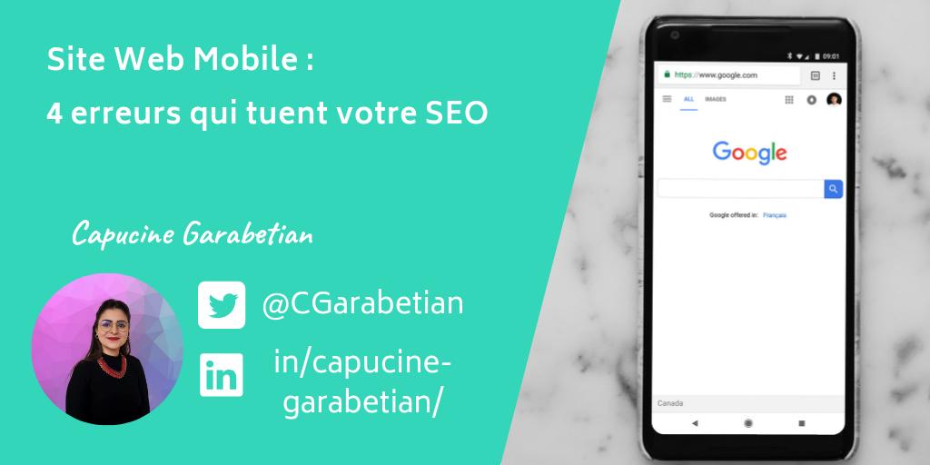 Site web mobile et SEO, les 4 erreurs qu'il ne faut pas faire !