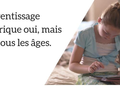 L'apprentissage numérique oui, mais pas à tous les âges.