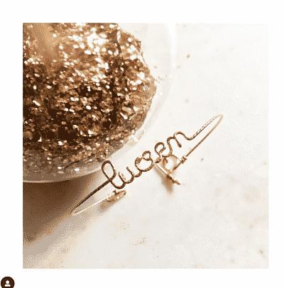 Bracelet Made in France personnalisé au prénom Lucien en fils sparkel or de la marque Padam padam paris