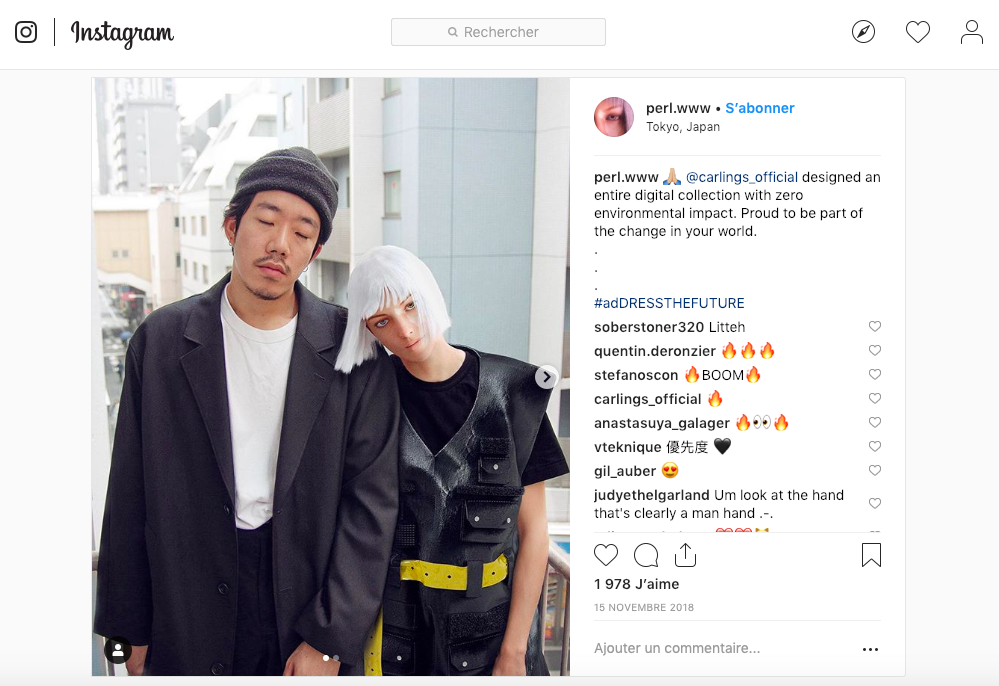 article futur mode vêtements virtuels instagram influenceur virtuel perl