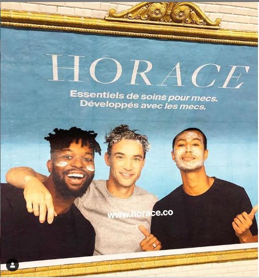 la marque de cosmétiques Horace a été développée avec sa communauté de mecs