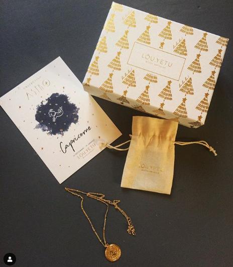 photo sur instagram d'un colis de la marque de joaillerie