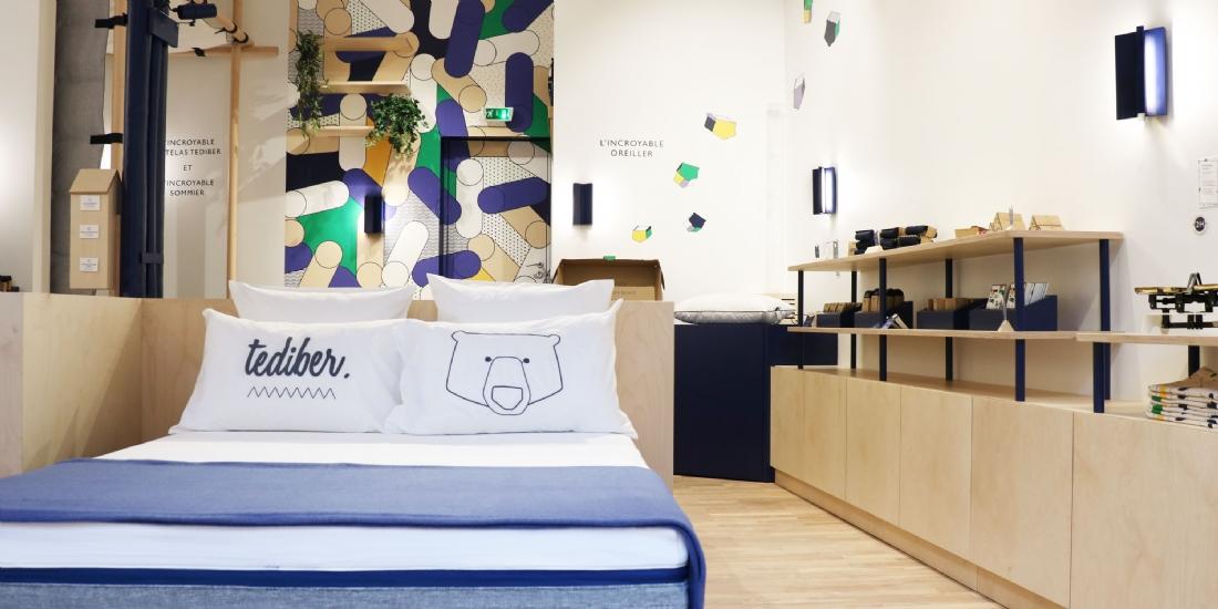 la première boutique de la marque de matelas Tediber a été ouverte en dècembre 2018