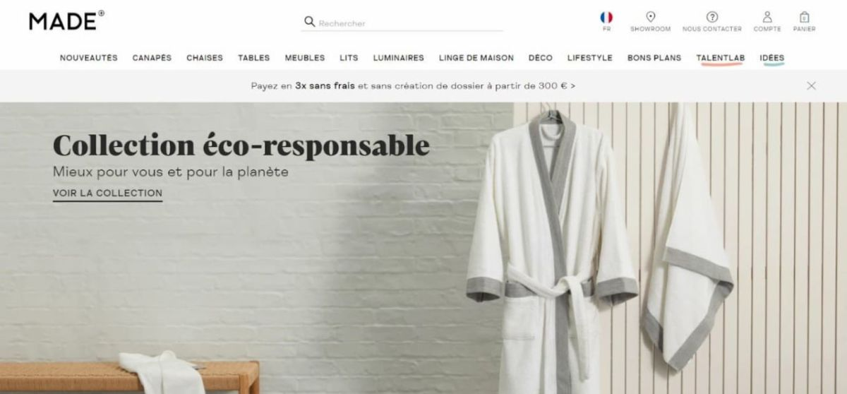 Slow déco : collection éco-responsable made.com