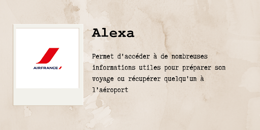 Assistants vocaux : Air France sur Alexa