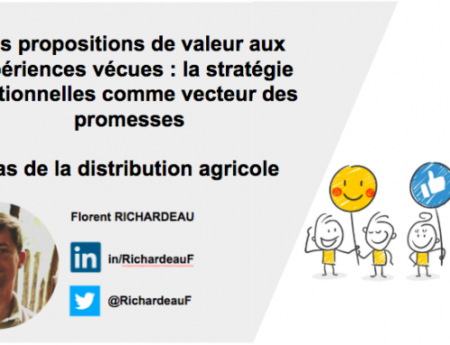 Des propositions de valeur aux expériences vécues : la définition de stratégies relationnelles comme vecteurs des promesses : cas de la distribution agricole (2/2)