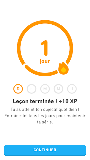 exemple de ludification avec Duolingo