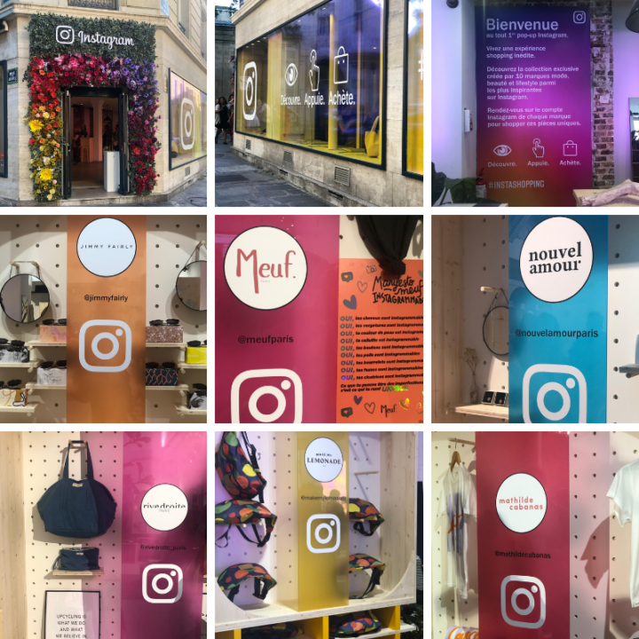 Pop up store en image sur Instagram