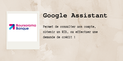 Assistants vocaux : Boursorama sur Google