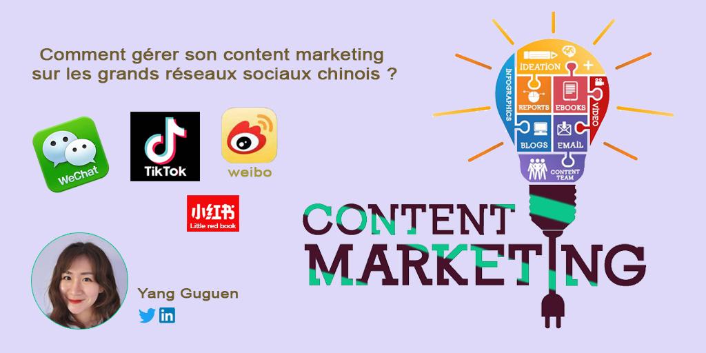 article sur comment gérer le content marketing sur les grands réseaux sociaux chinois