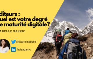accroche de l'article d'Isabelle Garric sur le degré de maturité digitale des éditeurs