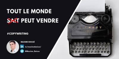 Copywriting Argumentaire de vente MBA MCI Maxime Boissé Copywriter