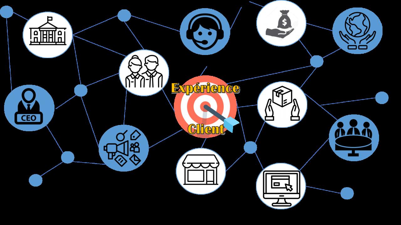 L'écosystème de l'expérience client : ensemble des acteurs parties prenantes de l'expérience client