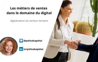 Métiers de vente dans le domaine du digital.