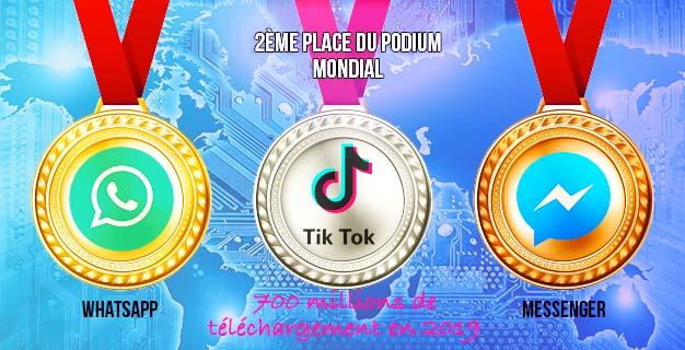classement mondial tik tok whatsapp messenger