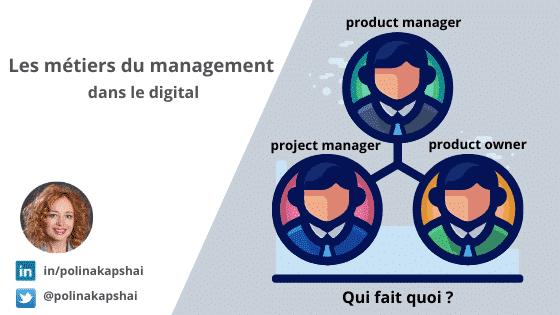 Métiers du management dans le digital.