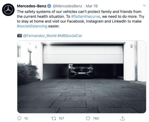 Mercedes social distancing