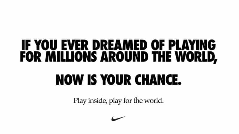 Nike social distancing