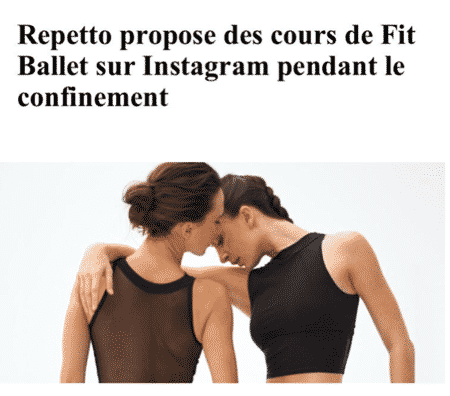 cours de fit ballet Repetto