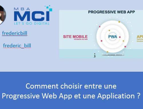 Comment choisir entre une  Progressive Web App et une Application ?