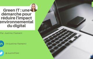 green it démarche réduire impact environnemental digital justine flament