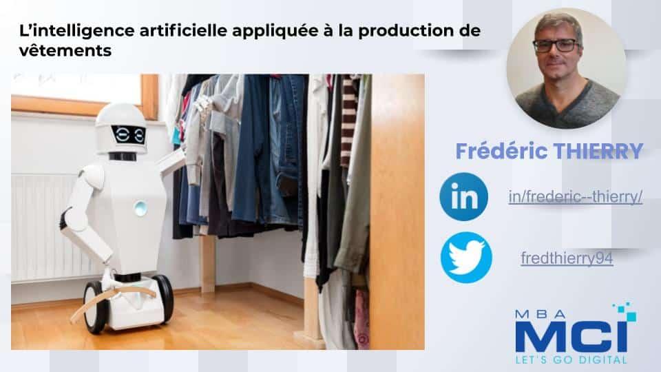 L'intelligence artificielle appliquée à la production de vêtements