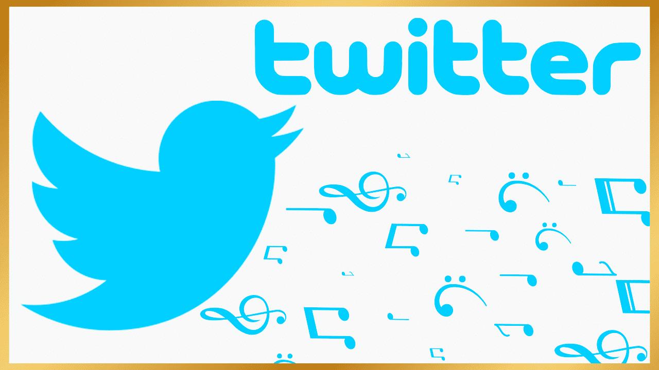 Twitter musique réseaux sociaux